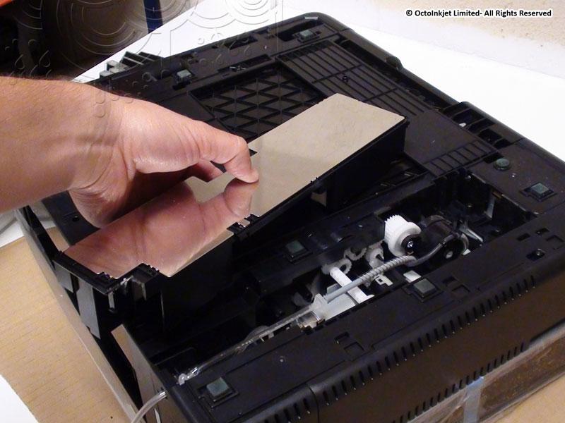 Optional: Remove metal plate